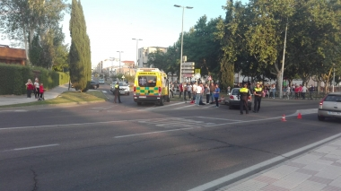 accidente cruce calle ancha