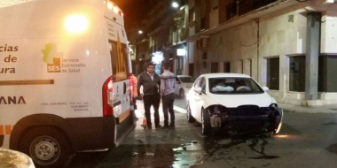accidente en la avenida del Pilar de Don Benito